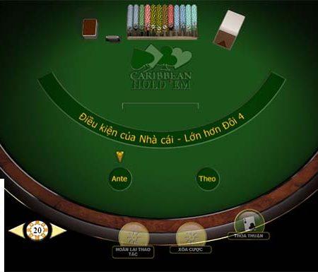 Tìm hiểu cách chơi game Carribean Hold'em tại nhà cái Happyluke