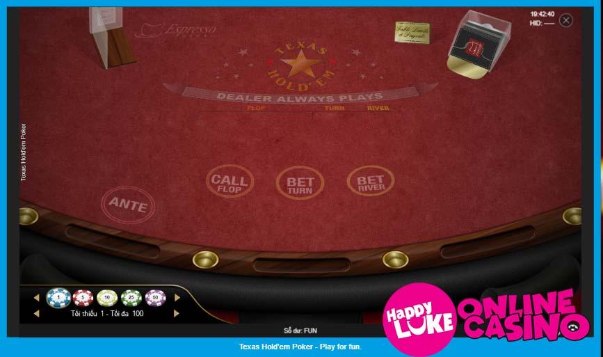 Cách Chơi Texas Hold'em Poker